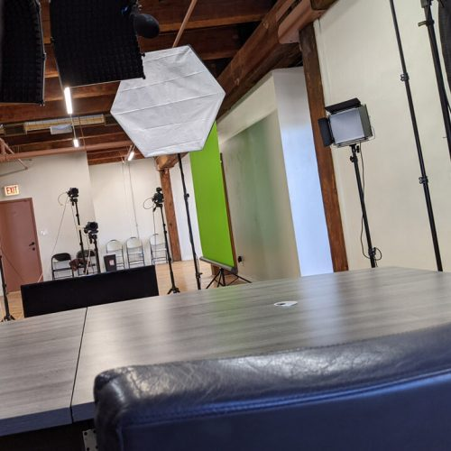 View of studio from Set 1
